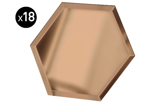 Miroir Mirrorize hexagone (18 pièces)